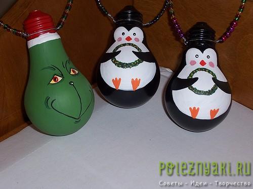 сделай сам рождественские идеи созданию украшений из лампочек 14