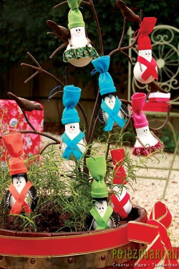 сделай сам рождественские идеи созданию украшений из лампочек 3