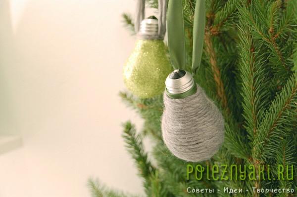 сделай сам рождественские идеи созданию украшений из лампочек 6