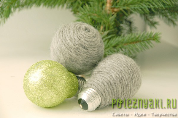 сделай сам рождественские идеи созданию украшений из лампочек 7