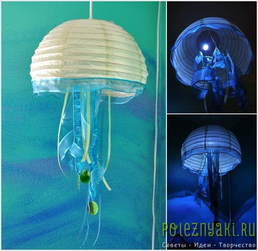 13. Креативный абажур в виде медузы