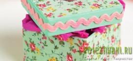 Сувенирная коробка в цветочек