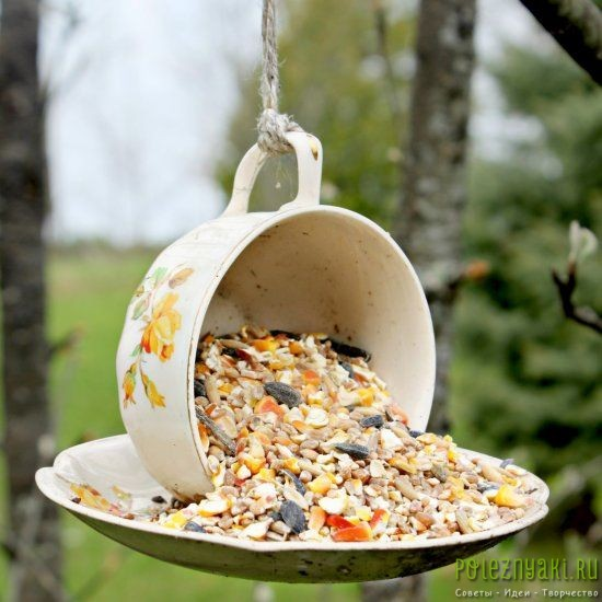 кормушка для птиц  парящая чаша