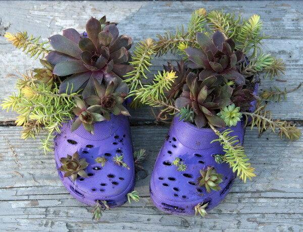 Миниатюрные сады в ботиночках, сапожках или туфельках
