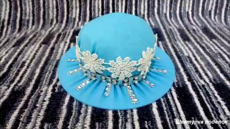 Игольница-шляпа своими руками.Как сделать шляпу игольницу своими руками.Поделки своими руками.