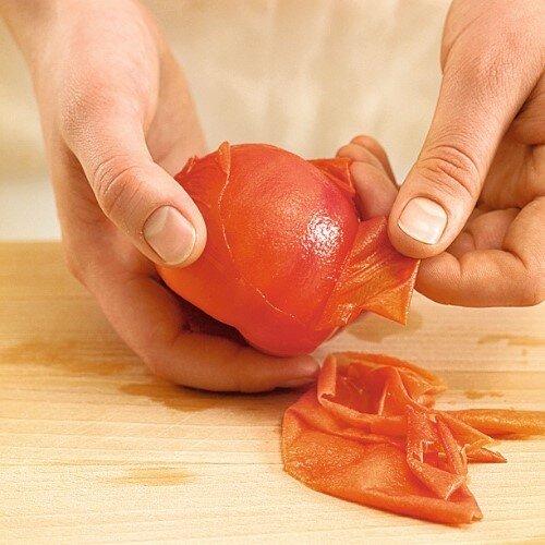 Как я легко и быстро очищаю кожуру томатов