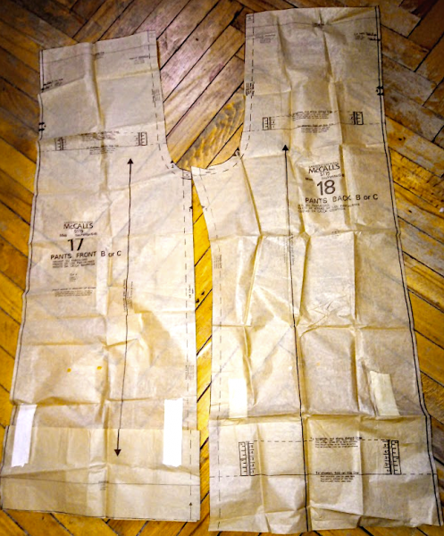 2. Широкие брюки из трикотажа - моделирование
