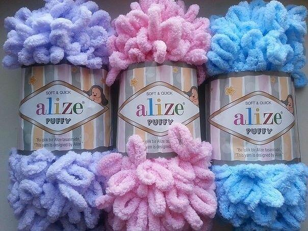 Идеи для вязания из пряжи Ализе Пуффи