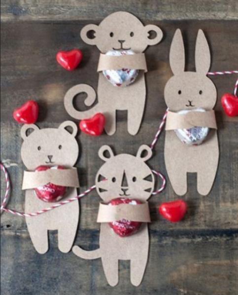 Валентинки с конфетками: простой мастер-класс к 14 февраля