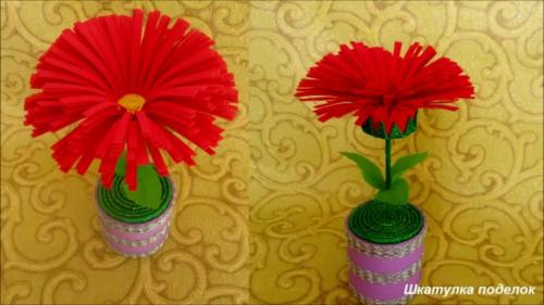 Делаем вместе с детьми шикарный цветок из фоамирана своими руками к 8 марта.