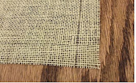 Эко-дружественная салфетка- ланчмат из мешковины за 10 минут