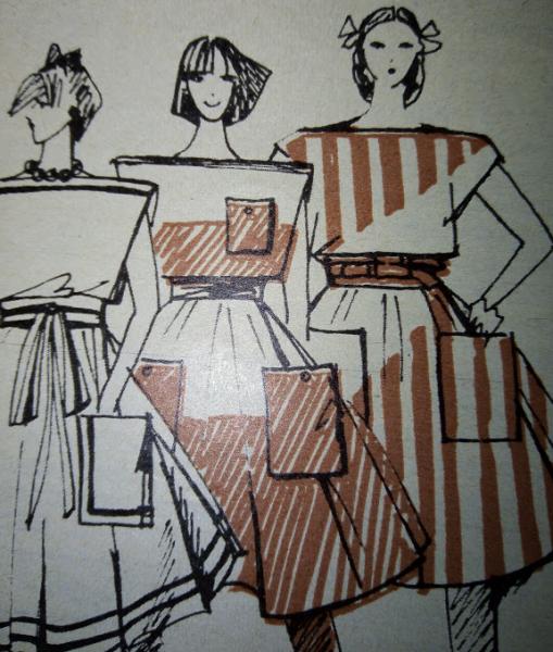 Привет из страны Советов (1). Широкая юбка на поясе с карманами (выкройка с описанием)