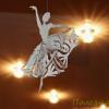 Снежинки-балеринки: новогодние поделки из бумаги